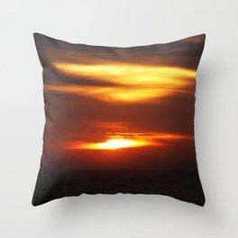 Daybreak over the sea Throw Pillow