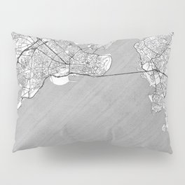 Istanbul Map Line Pillow Sham