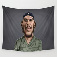 che Wall Tapestries featuring Celebrity Sunday ~ Che Guevara by rob art | illustration