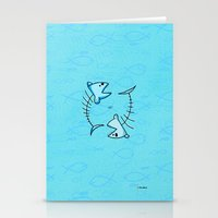 pisces Stationery Cards featuring Pisces by Giuseppe Lentini