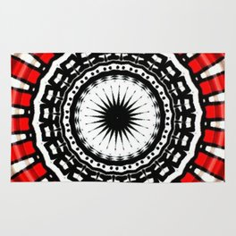 Red Black Fight Rug
