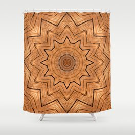 Wooden Wheel of the year of the ring kaleidoscope Shower Curtain