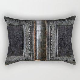 Black Antique Book Rectangular Pillow