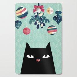 Mistletoe? (Black Cat) Cutting Board