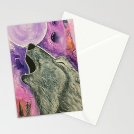 Spirit Wolf - Gold Lotus Oracle Stationery Cards
