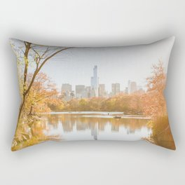 Fall in NYC on the Pond Rectangular Pillow