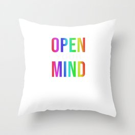 Open your Mind - happy gay Pride LGBT CSD Parade T-Shirt Throw Pillow