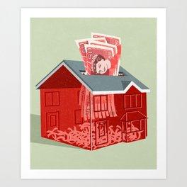 Money shredder Art Print