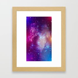 Pink Galaxy Painting Framed Art Print