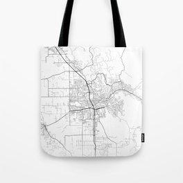 Minimal City Maps - Map Of Santa Rosa, California, United States Tote Bag