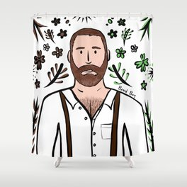 Beard Boy: Michael Shower Curtain