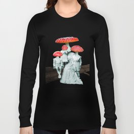 amanita muscaria with children Long Sleeve T-shirt