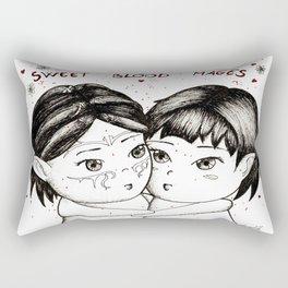 Sweet blood mages Rectangular Pillow