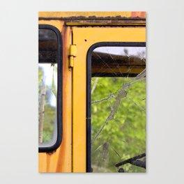 Junkyard School Bus Canvas Print