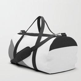 Retro Pop Art Beams - Black White Grey Duffle Bag