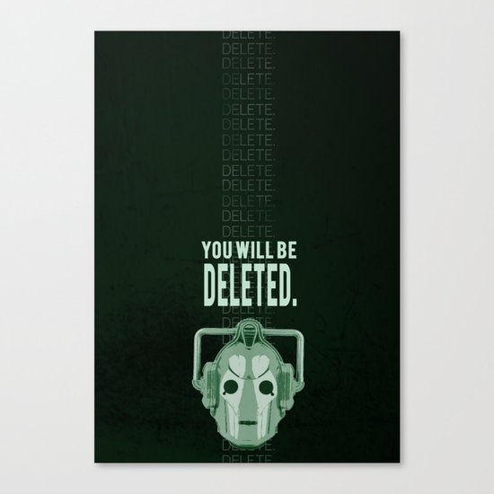 Doctor Who: Cybermen Print Canvas Print