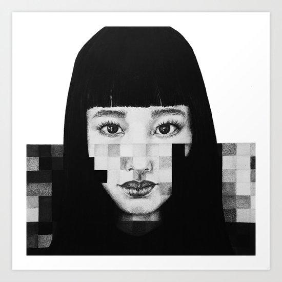 Pixel Girl Art Print