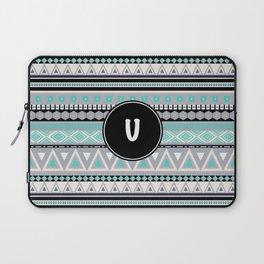 Monogram Tribal Pattern *U* Laptop Sleeve