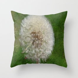 Dandelion Ballerina Throw Pillow