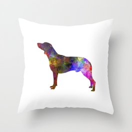 Polish Hunting Dog in watercolor Throw Pillow