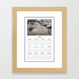 2013 Calendar Beach Pebbles Framed Art Print