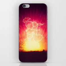 Cosmo + Celeste ( Colorful Cosmological Night Sky Couple in Love ) iPhone Skin