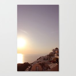 Sunset at Oia Canvas Print