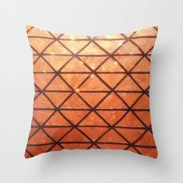 Woven #2 Bronze Throw Pillow