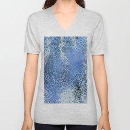 gush of dots in blue Unisex V-Neck