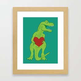 T-rex Love Framed Art Print