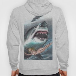 shark woman Hoody