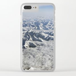 Himalaya mountains under clouds. View from airplane - Tibet Clear iPhone Case