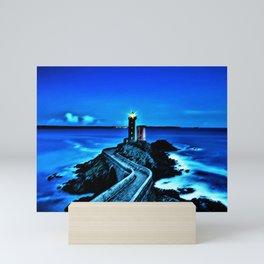 Plouzane Lighthouse, France Landscape by Jeanpaul Ferro Mini Art Print