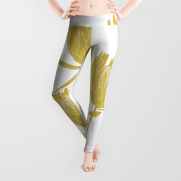 Golden Protea  Leggings