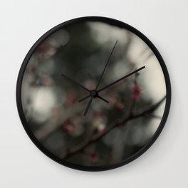 Pink Blooming Wall Clock