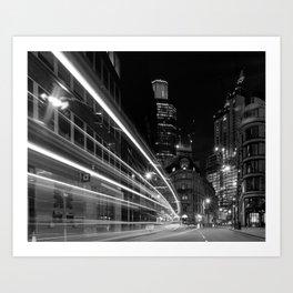 City of London, Nightime Art Print