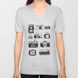 Vintage Cameras Unisex V-Neck