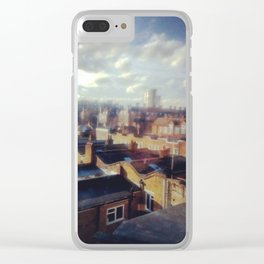 London roof top. Clear iPhone Case