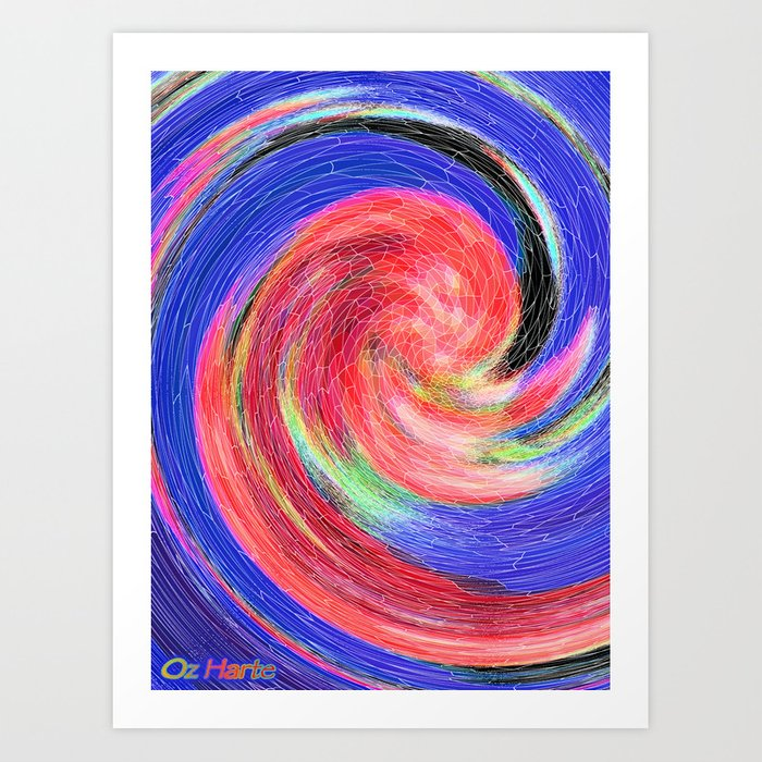 Flower Swirl Art Print
