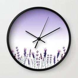 Field of Lavender Wall Clock