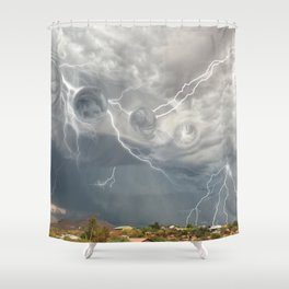Arrival of the Monsoon Storm Generator Shower Curtain
