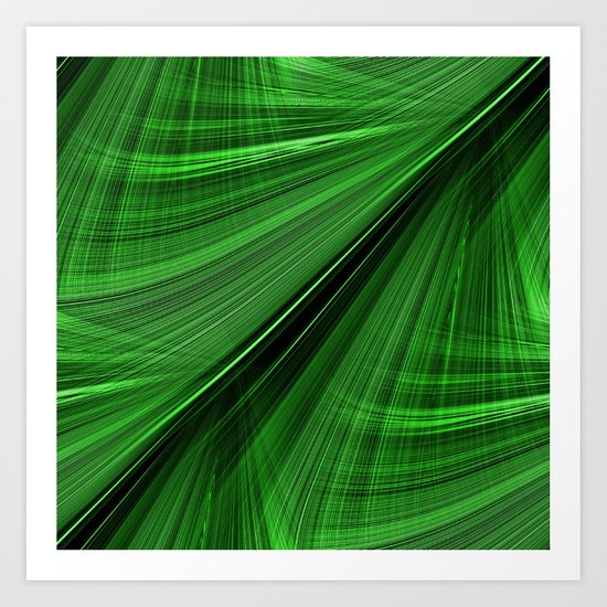 GORGEOUS GREEN Electric Highway Art Print