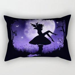 fairy in the moonlight Rectangular Pillow