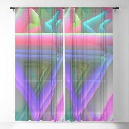 pop triangels Sheer Curtain