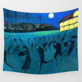 The Ice Skaters, Winter Landscape by Marianne Von Werefkin Wall Tapestry