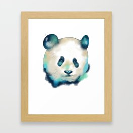 Cute Space Galactic Artsy Panda Bear Framed Art Print