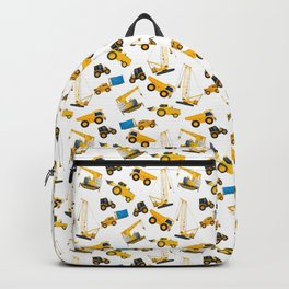 Heavy machinery watercolor pattern Backpack