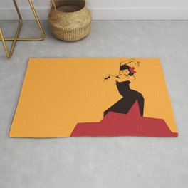faceted flamenco Rug