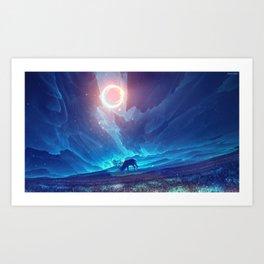 Stellar collision Art Print