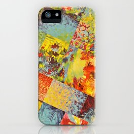 COLORFUL INDECISION 3 - Wild Vivid Rainbow Abstract Acrylic Painting Mixed Pattern Pretty Art Gift  iPhone Case